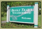 Bridle Trails Neighborhood Sign